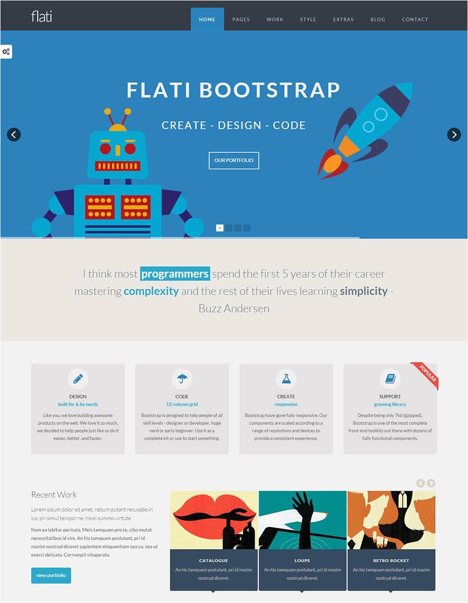 bootstrap design template