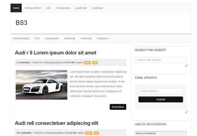 bs3 bootstrap 3 responsive blogger