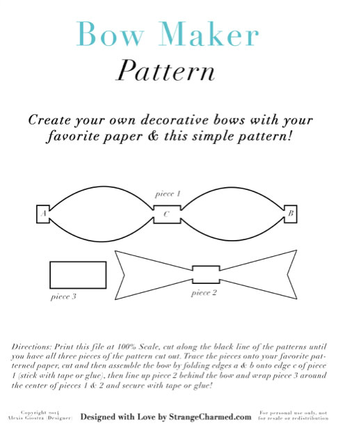 Bow Maker Template Diy Bow Clips for Your Planner More Strange