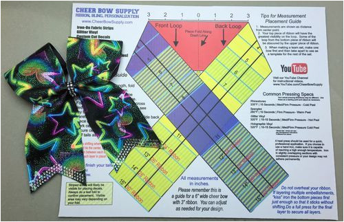 Bow Maker Template Diy Cheer Bow Maker 39 S Mat This Folding Template Shows