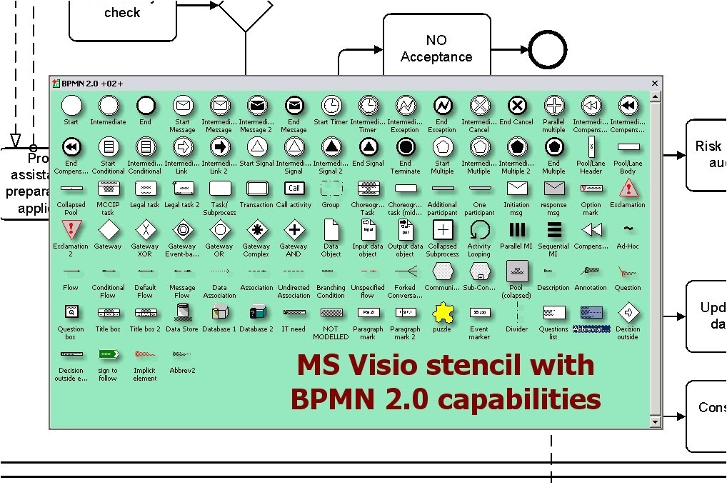 bpmn visio stencil download