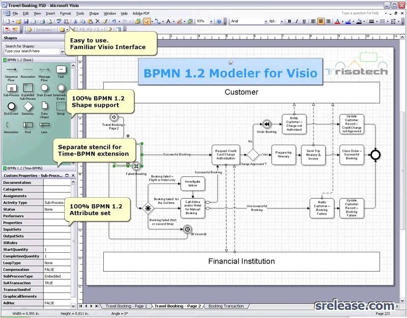 bpmn 1 2 modeler for visio