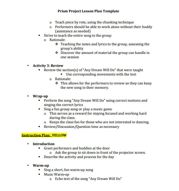 lesson plans for primary school music