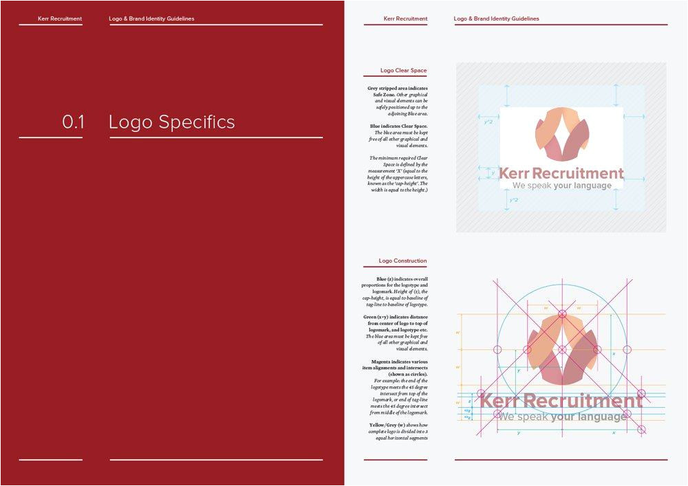 Brand Guidelines Template Pdf 14 16 Page Logo Brand Identity Guidelines Template for