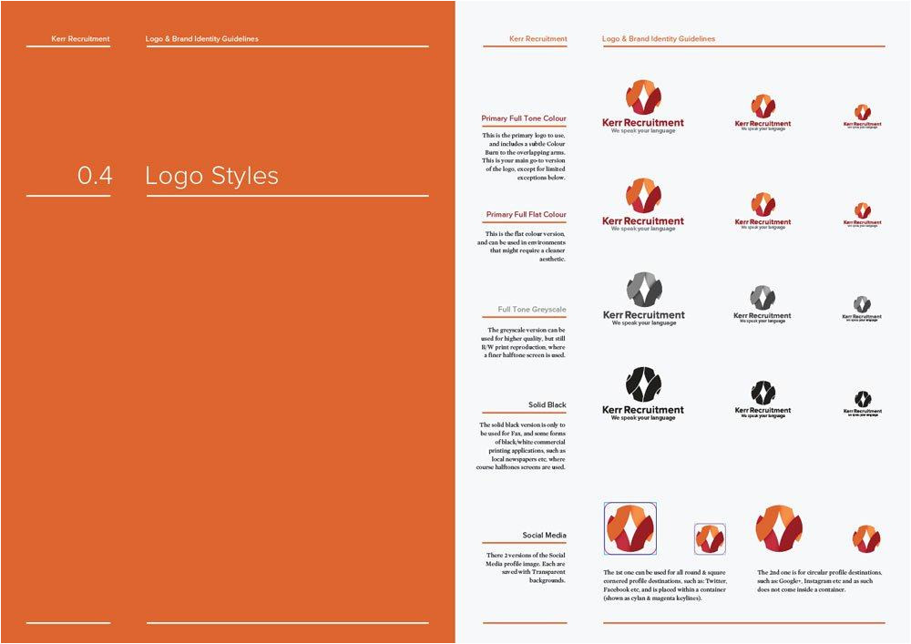 Brand Guidelines Template Pdf 14 Page Logo and Brand Identity Guidelines Template for
