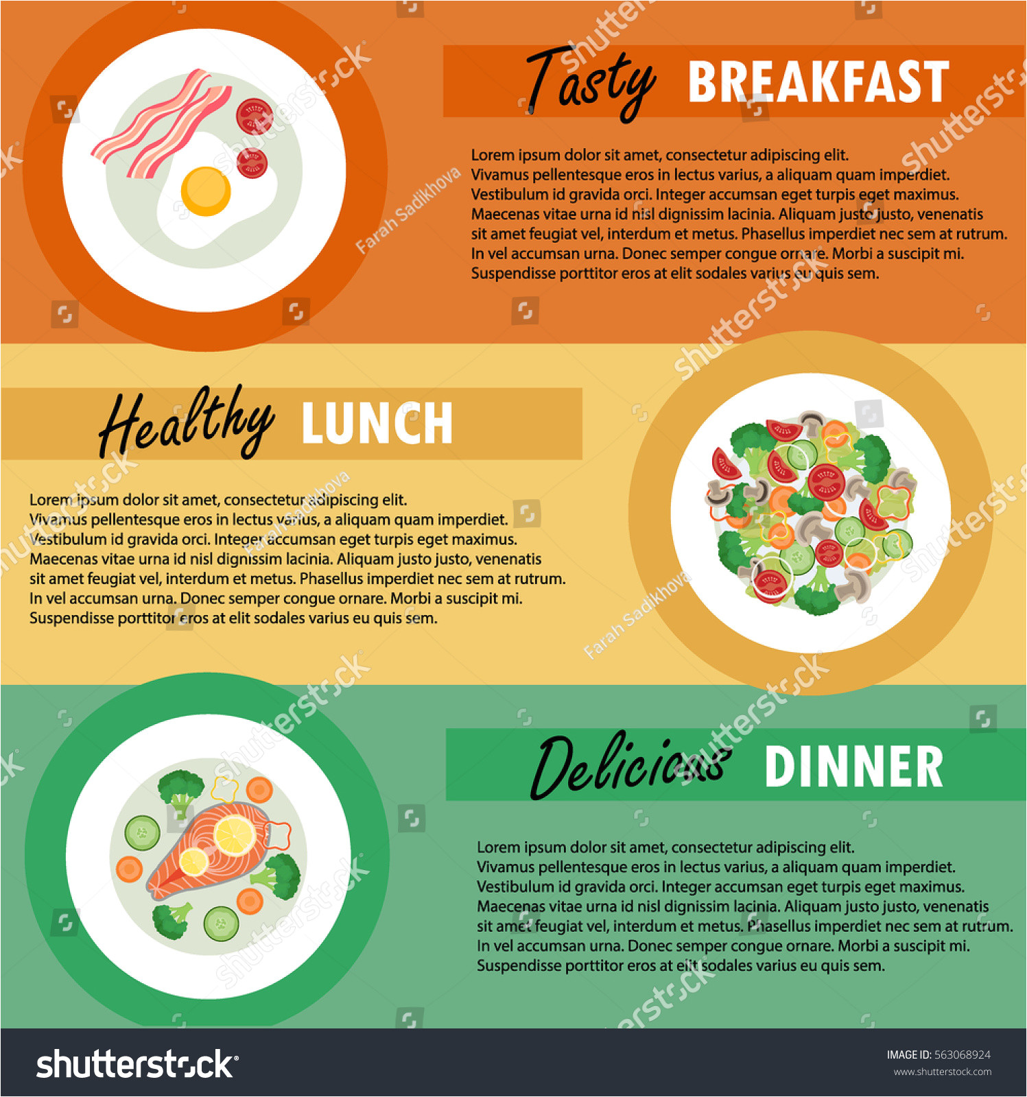 vector banner template breakfast lunch dinner 563068924