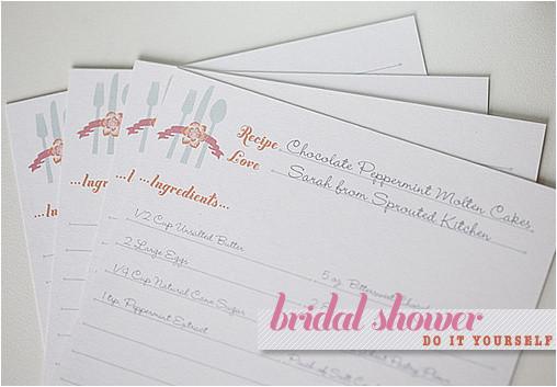 bridal shower recipe cards template l 1277 l 45