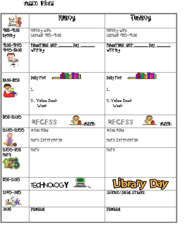 bright from the start lesson plan template