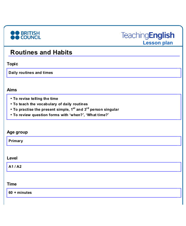 British Council Lesson Plan Template 40 Lesson Plan Templates Free Premium Templates