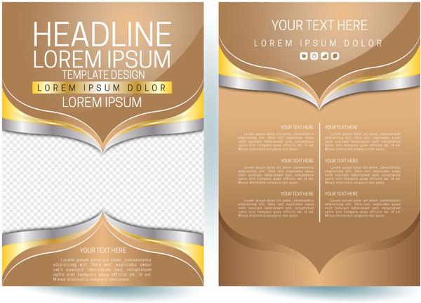 brochure design vector cdr file