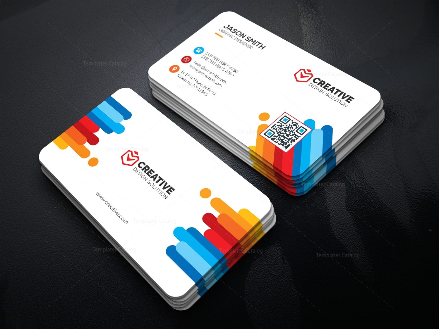 bright business card template 000478