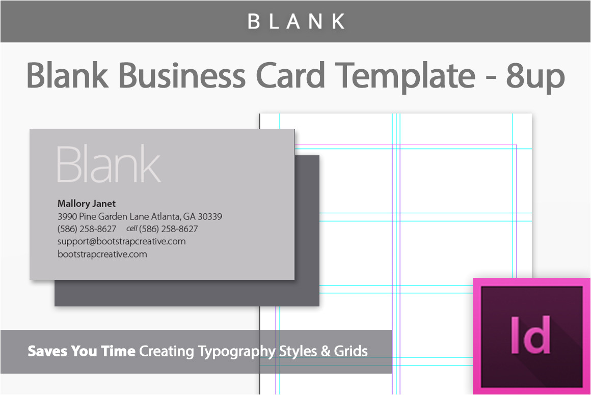 331080 blank indesign business card