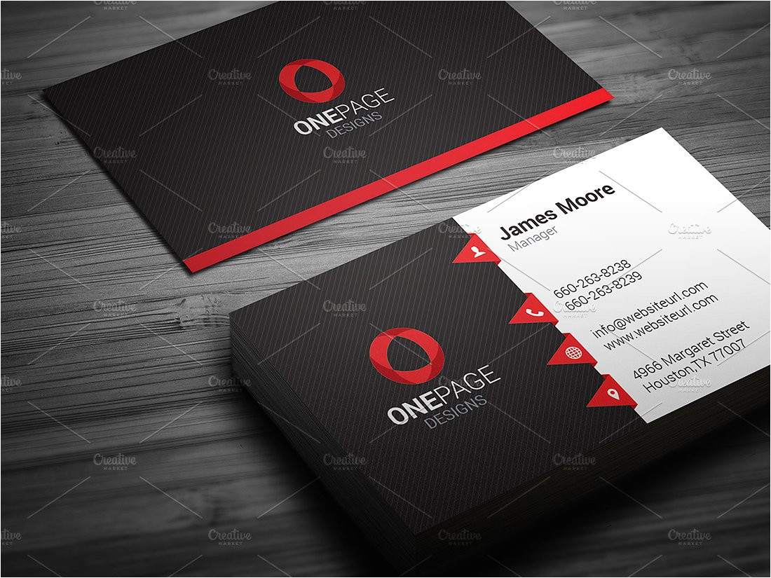 Buisiness Card Template Red Business Card Template Business Card Templates