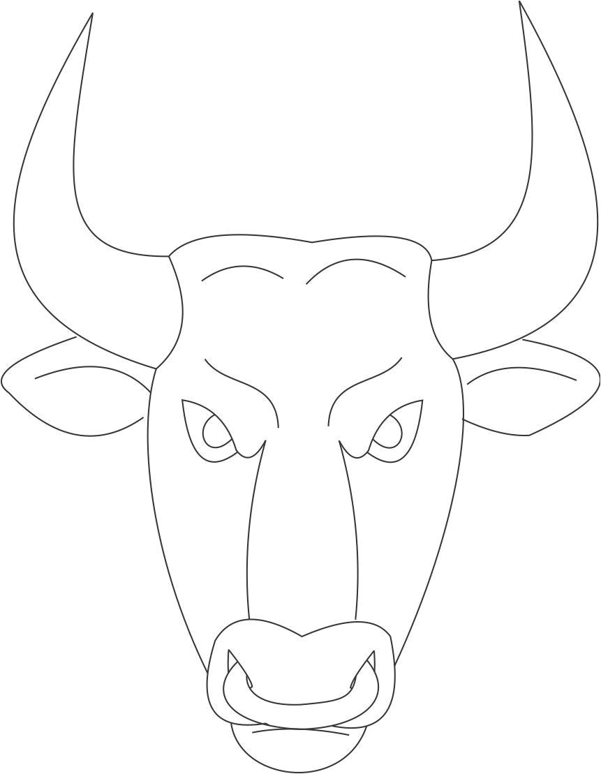 Bull Mask Template Bull Mask Printable Coloring Page for Kids