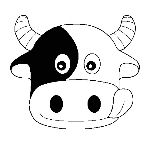 Bull Mask Template Cow 6 Coloring Page