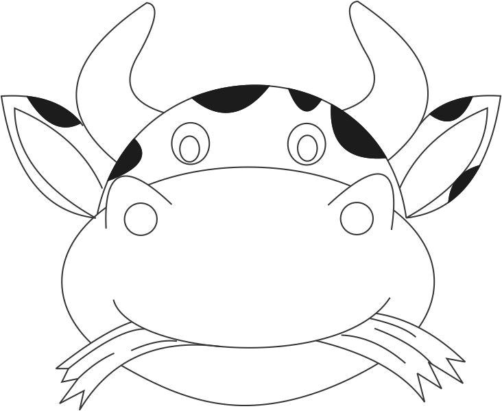 9185 cow mask printable coloring page for kids
