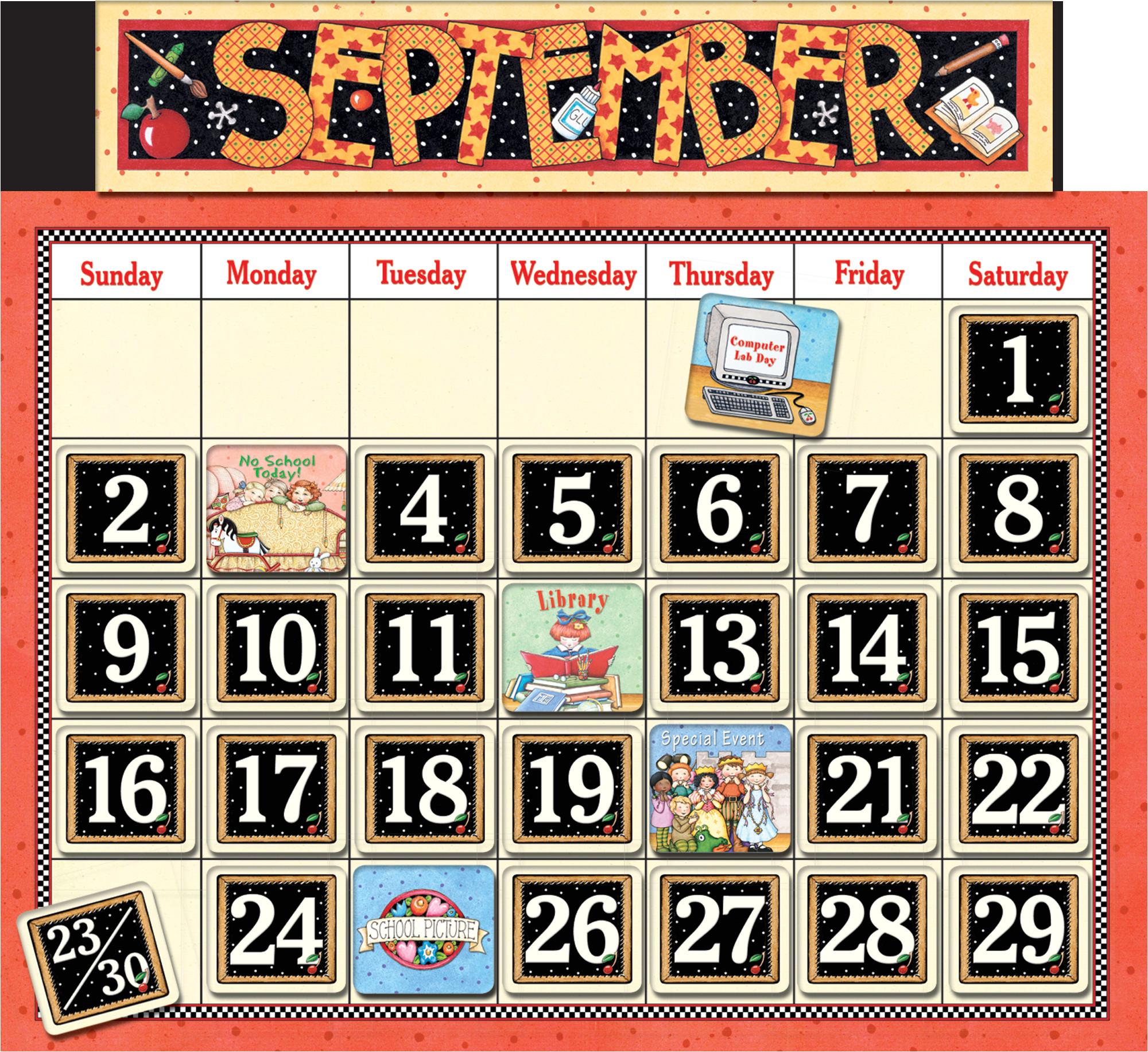 classroom calendar bulletin board from mary engelbreit 4314