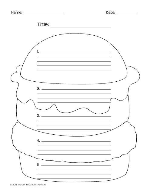 Burger Writing Template Hamburger Paragraph Template Search Results Calendar 2015