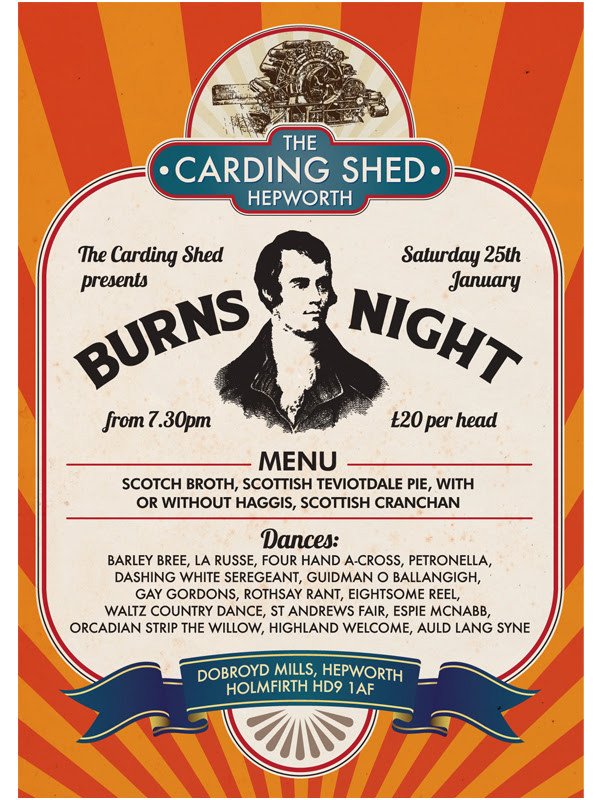 burns night at the carding shed
