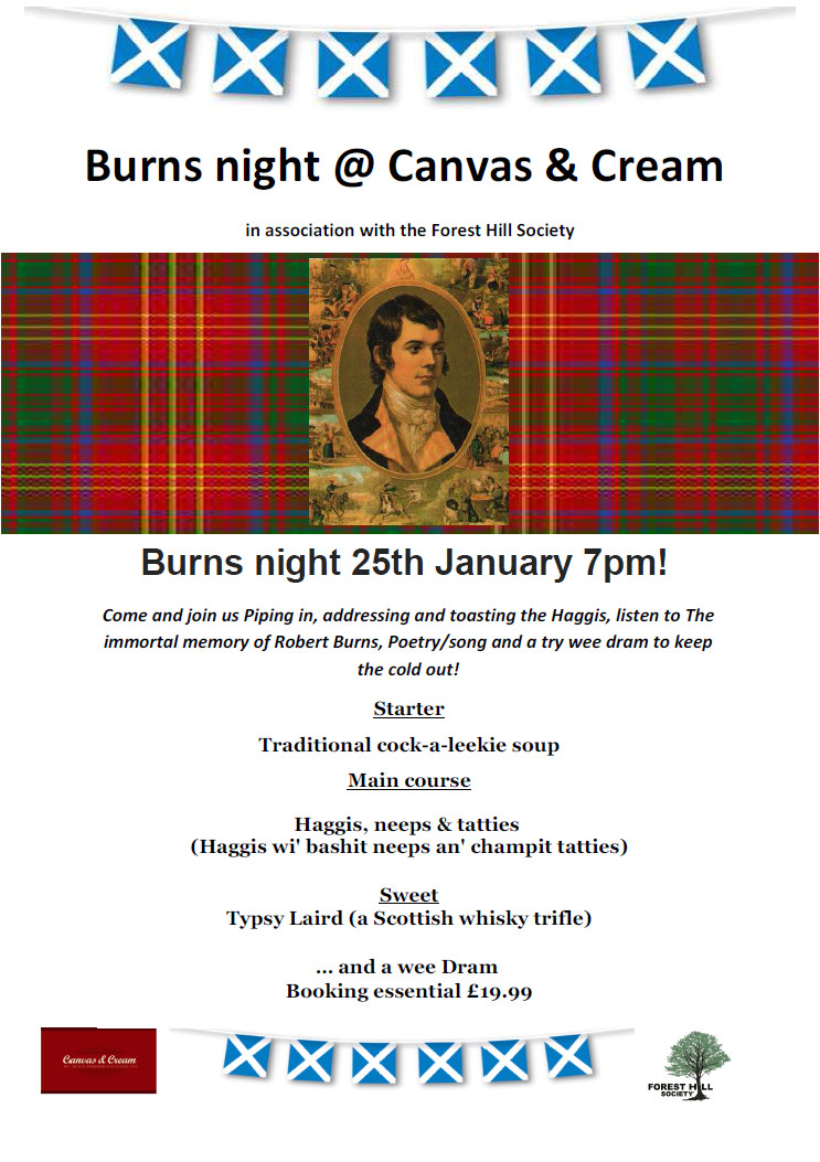 burns night party fri 25th january