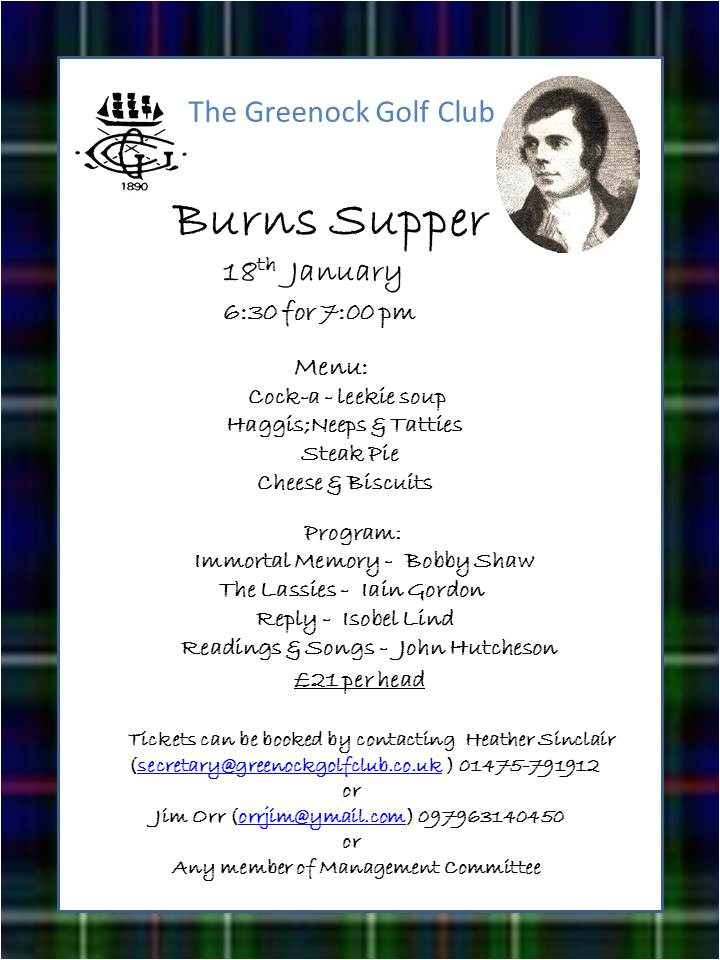 burns night menu template