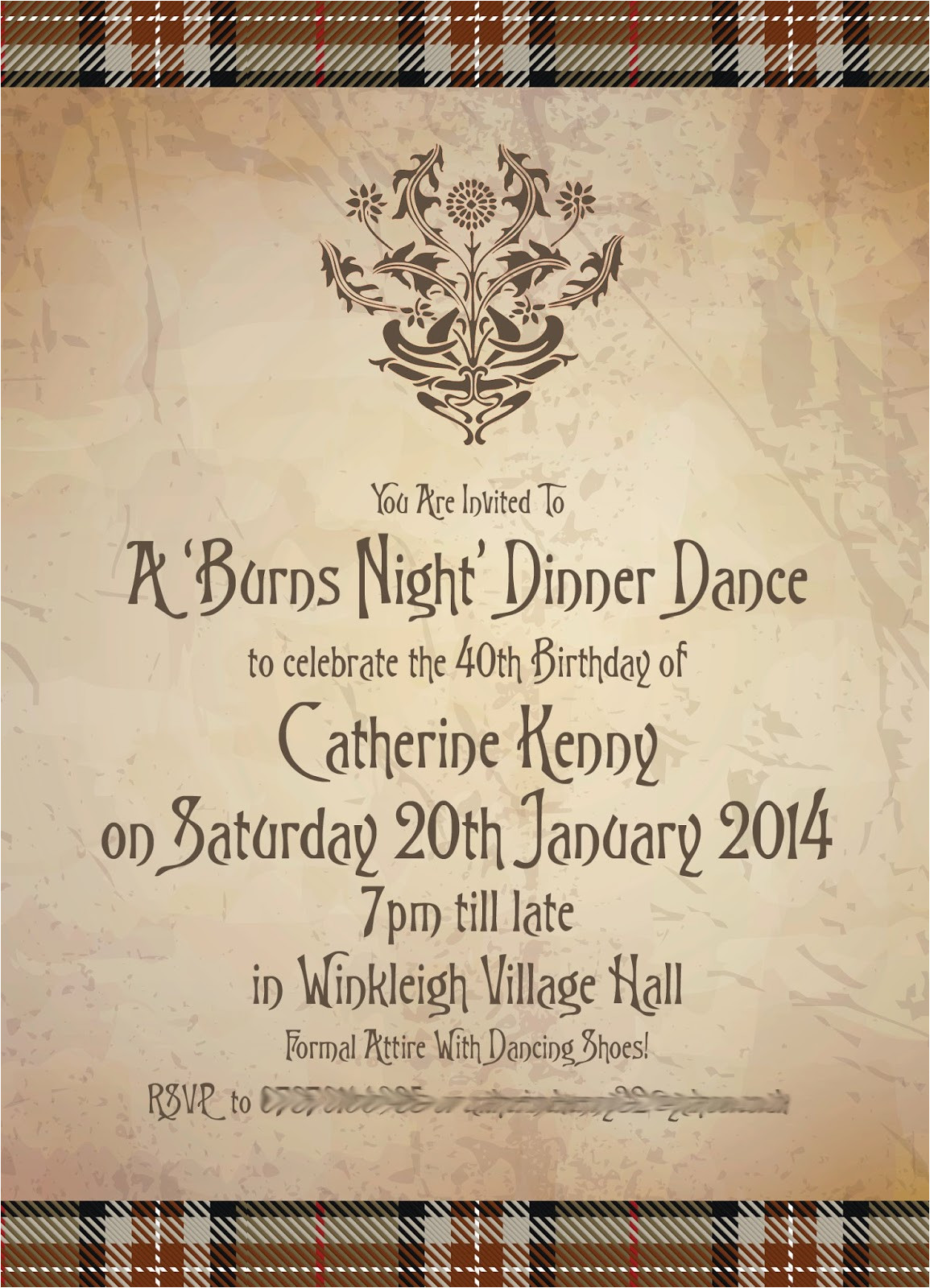 a burns night celebration invitation