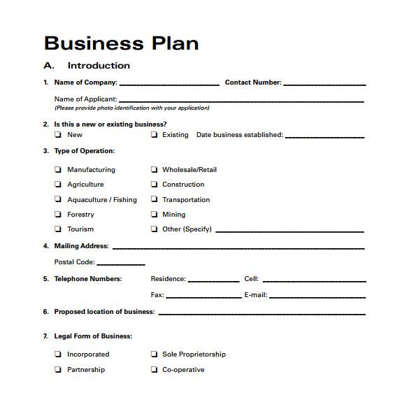 Busines Plan Templates 30 Sample Business Plans and Templates Sample Templates