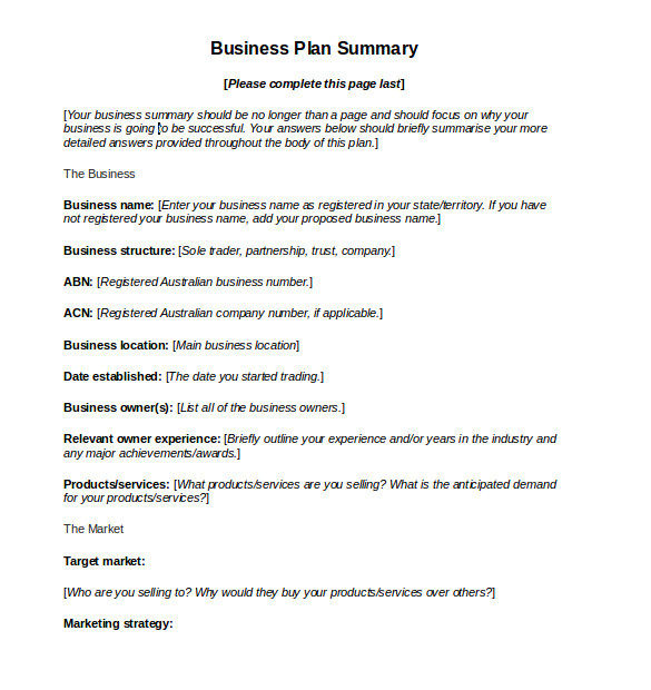 Business.gov.au Business Plan Template 11 Sample Business Action Plans Sample Templates