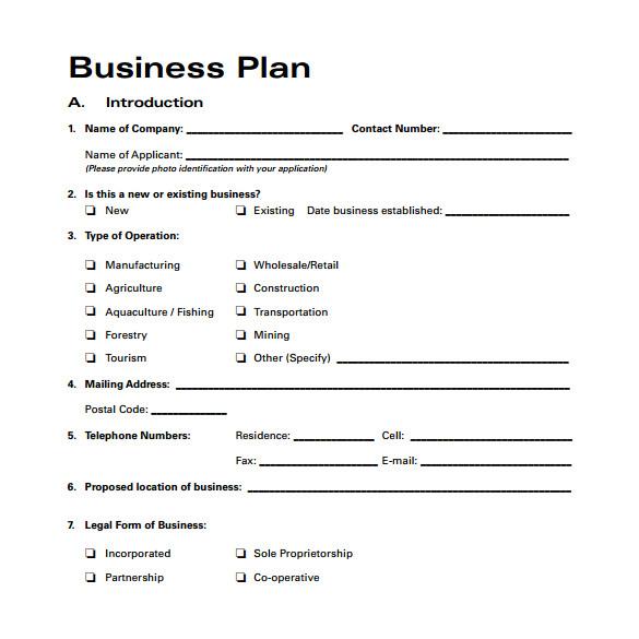 Bussiness Plan Templates 30 Sample Business Plans and Templates Sample Templates