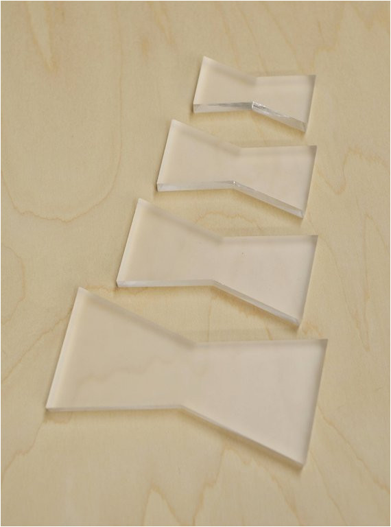 butterfly joint template set bow tie