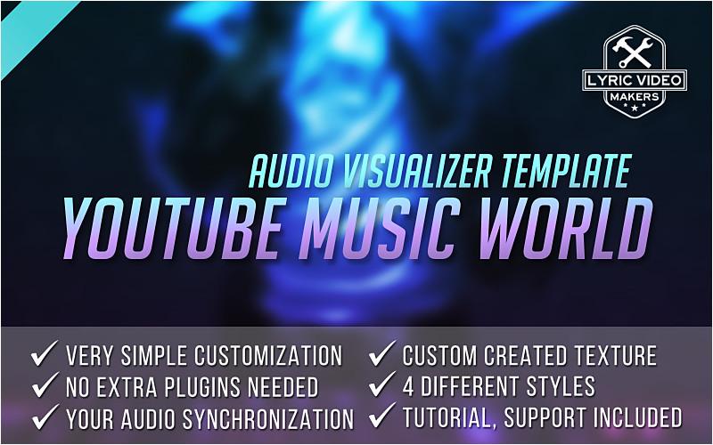 youtube music world premium audio visualizer template ae