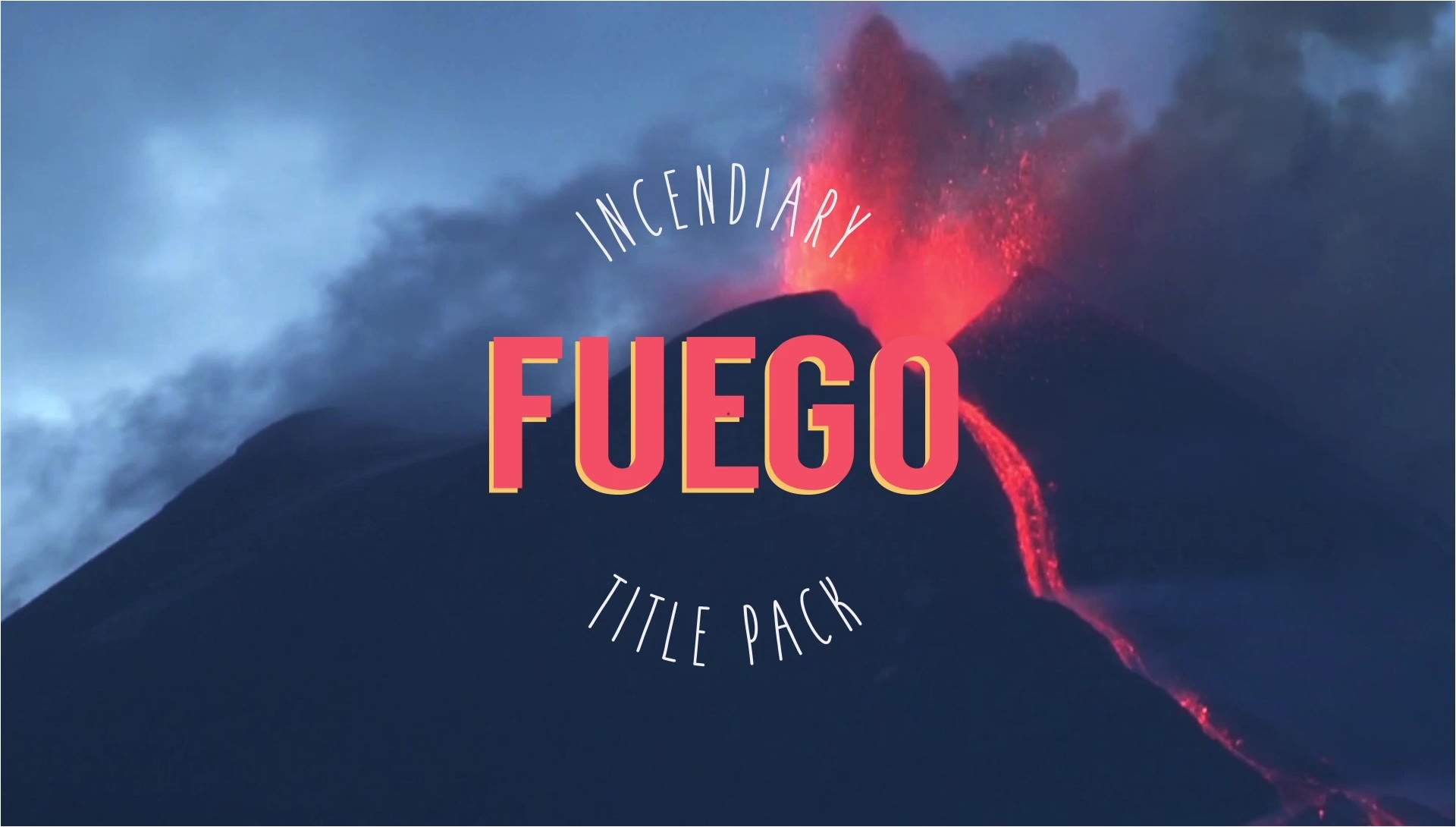 Buy after Effects Templates Fuego Incendiary Title Pack after Effects Template