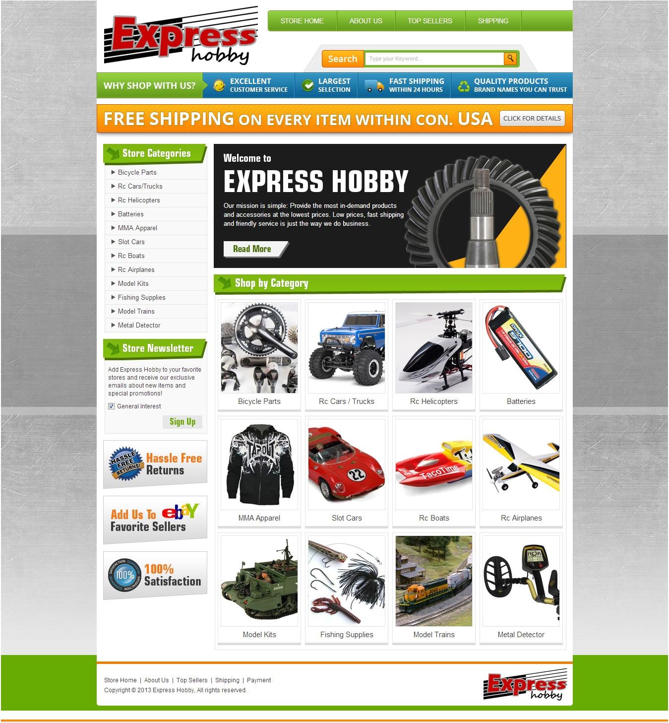 ebay store template