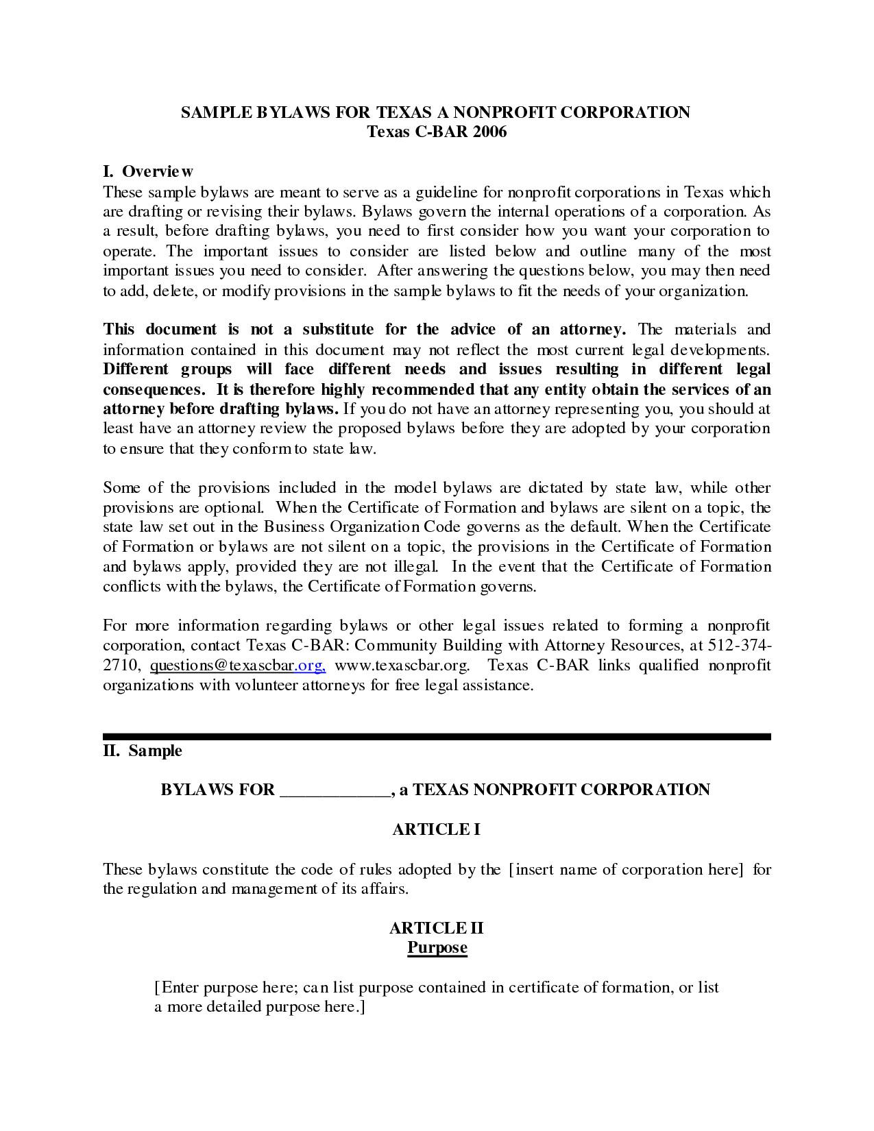 post non profit membership bylaws 434458