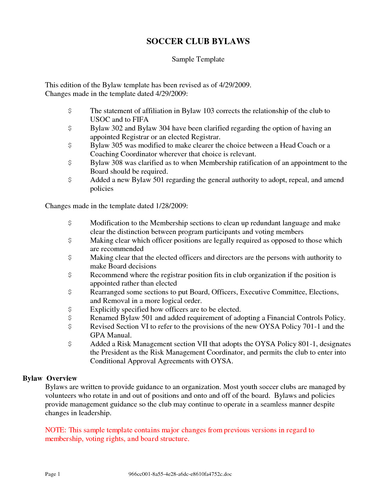 post sample non profit bylaws 434515
