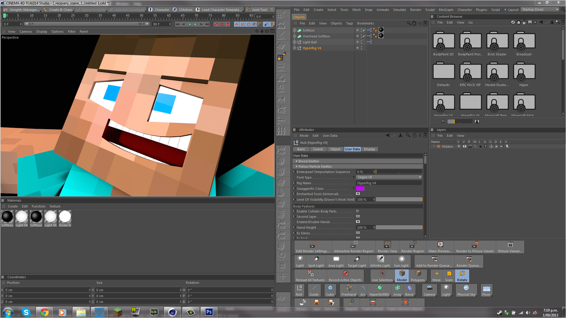 cinema 4d character template