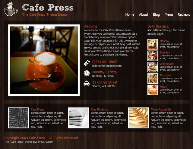 free themes for restaurants cafe