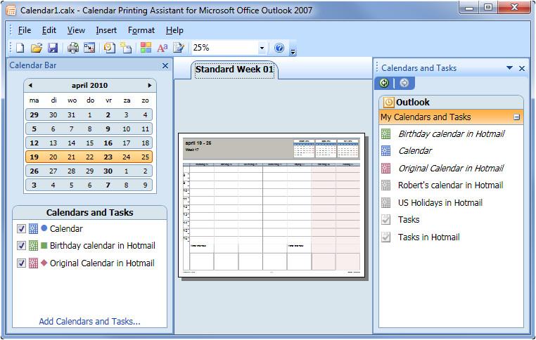 Calendar Printing assistant Templates Printing Combined Calendars Msoutlook Info