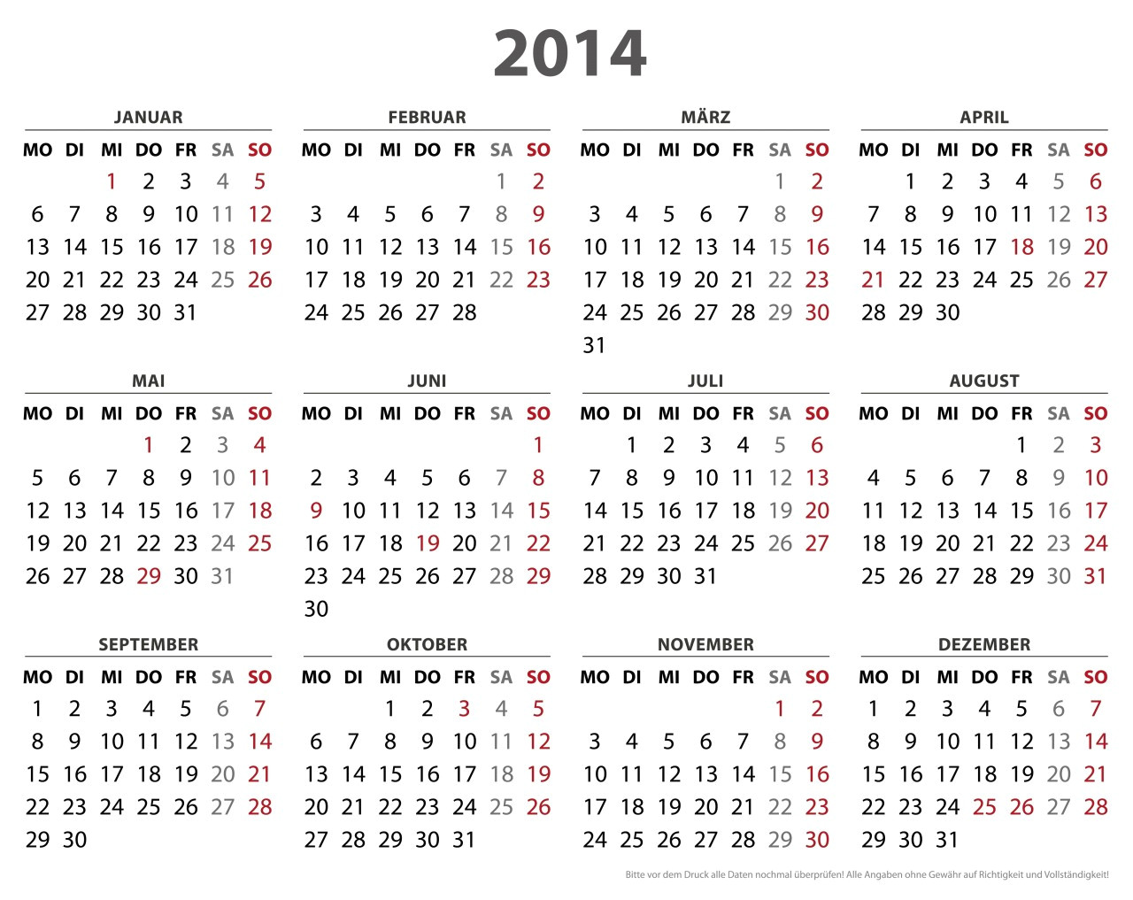 get your 2014 us calendar printed today with holidays