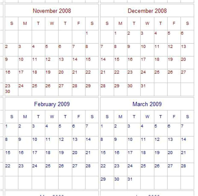 Calendar Template 4 Months Per Page 4 Month Calendar Template 2015 Related Keywords 4 Month