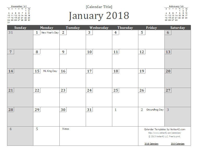2018 calendar template 1426