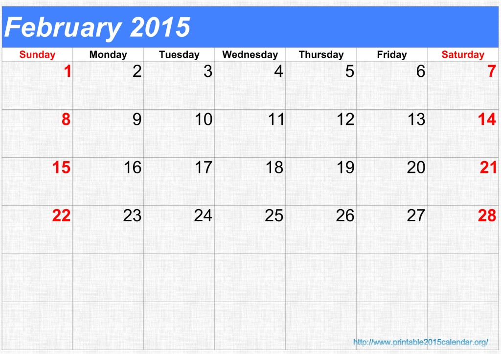post blank february calendar 2015 printable 346092