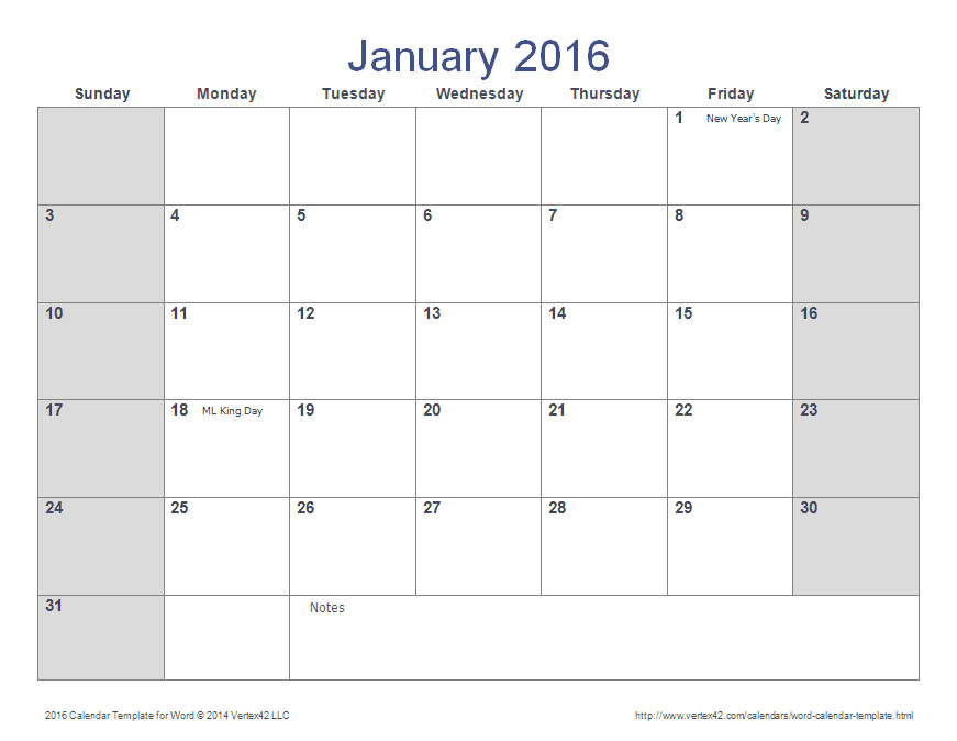 Calendar Template for Word 2007 Word Calendar Template for 2016 2017 and Beyond