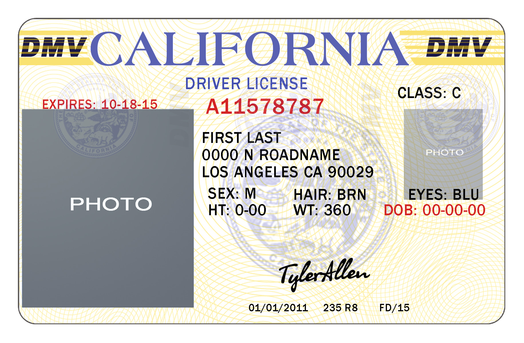 California Id Template Download 10 California Drivers Id Template Psd Images California