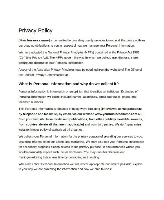 California Privacy Policy Template 10 Best Leaves Application form Images On Pinterest