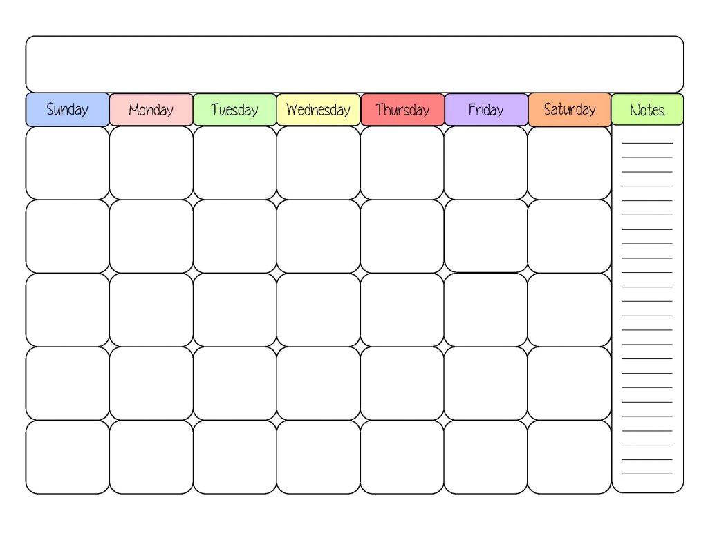 free printable calendar templates