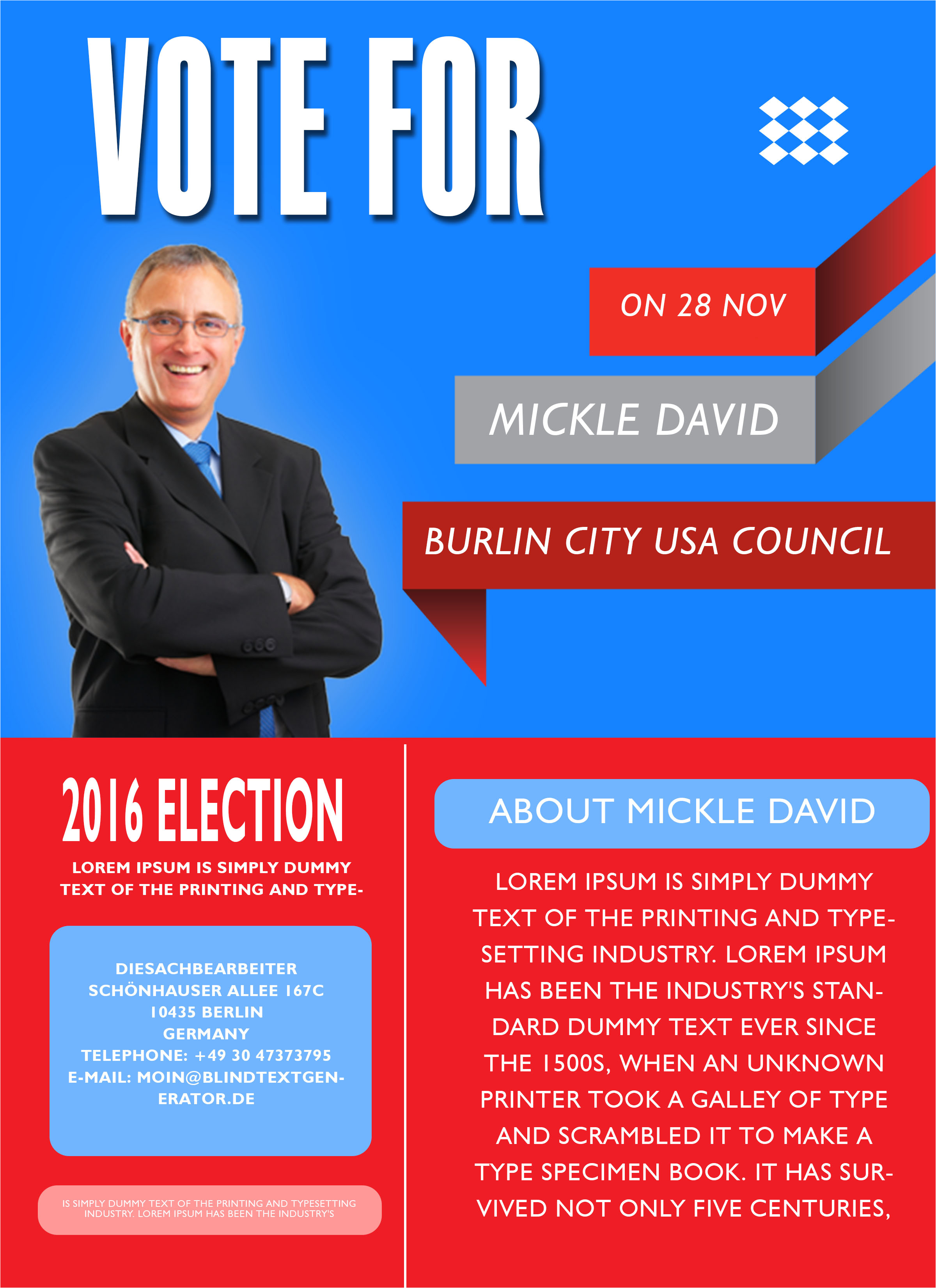free political campaign flyer templates