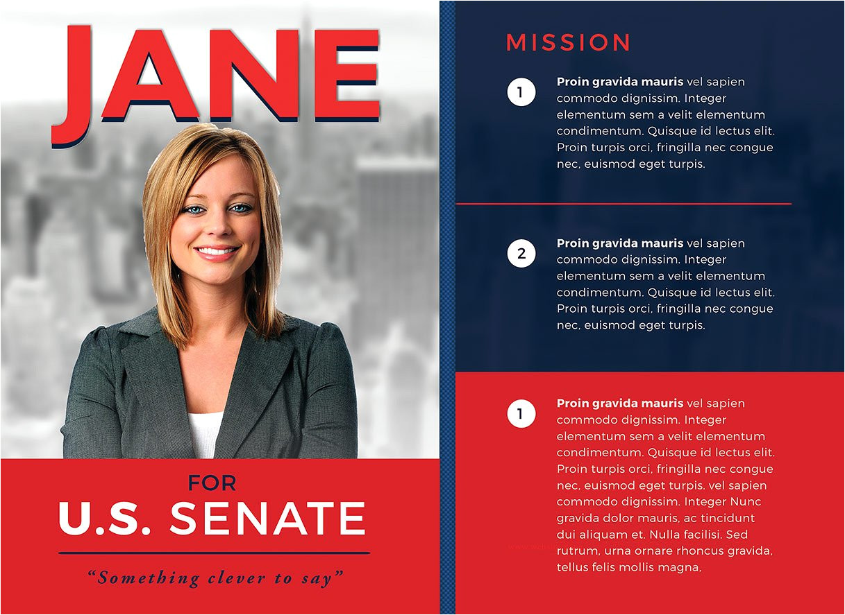 Campaign Mailer Template Political Campaign Brochure Design Brickhost 5fb62685bc37