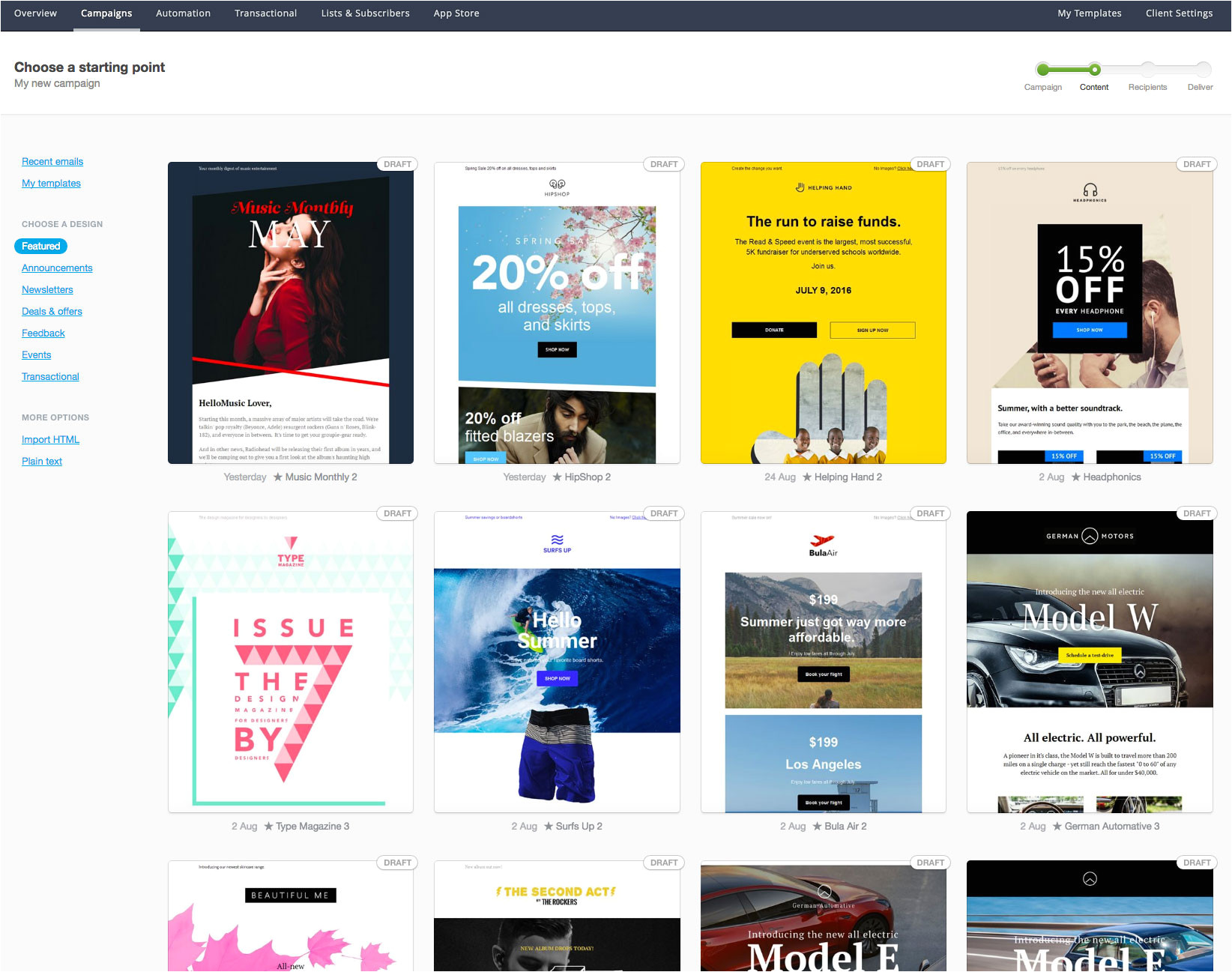 Campaign Monitor HTML Templates We 39 Ve Added New Email Template Designs and More Template