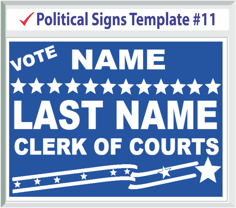 Campaign Yard Sign Templates Political Yard Signs Templates